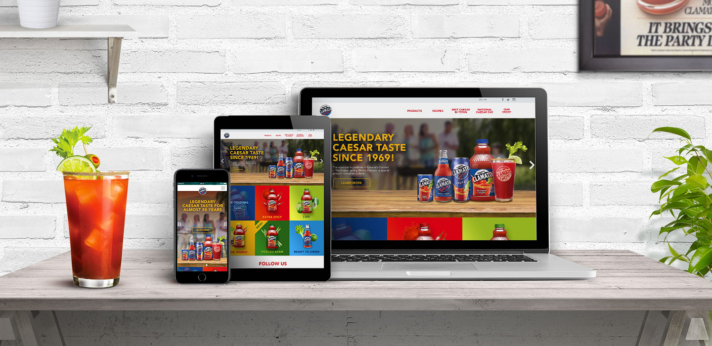Motts Clamato new site design